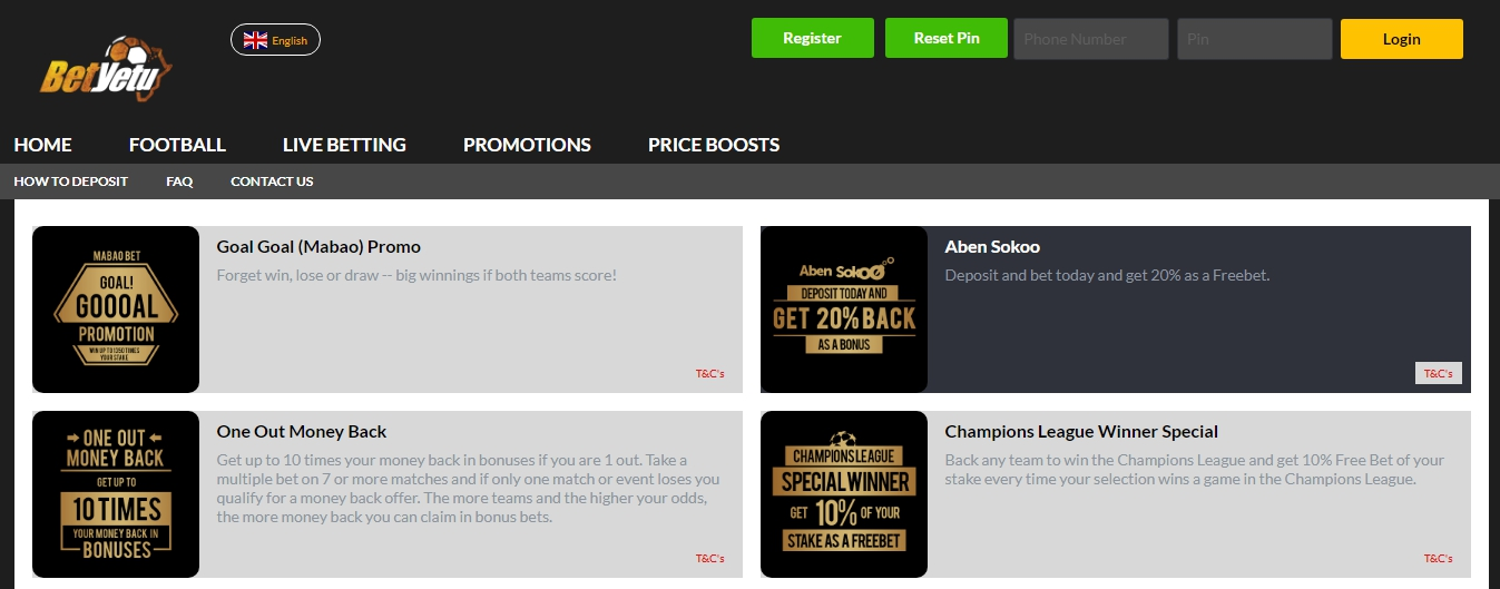 mobile Betyetu app bonus