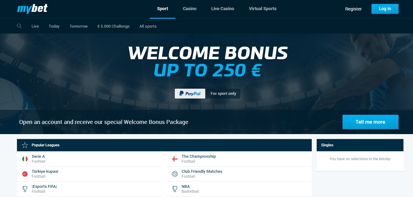 Mybet mobile bonus